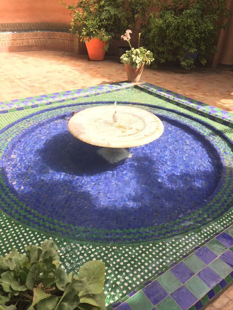 Le Jardin Majorelle Entrance Fountain