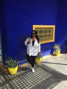 Le Jardin Majorelle Blue and Yellow wall
