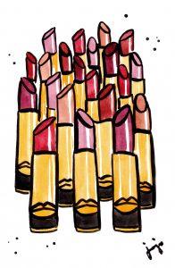 Pat McGrath Matte Trance Lipstick Illustration la femme jojo